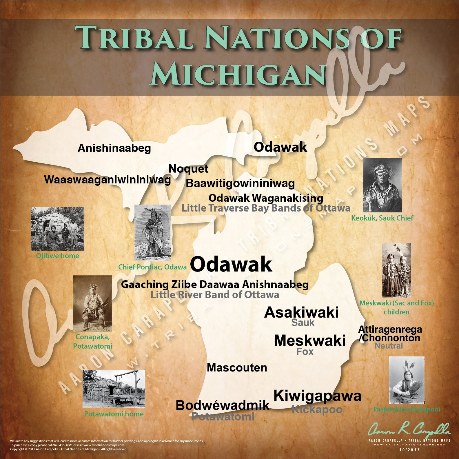 Tribal Nations of Michigan Map