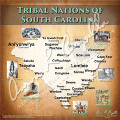 Tribal Nations of South Carolina Map