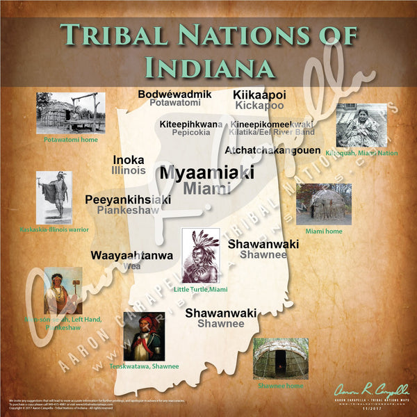 Tribal Nations of Indiana Map Puzzle