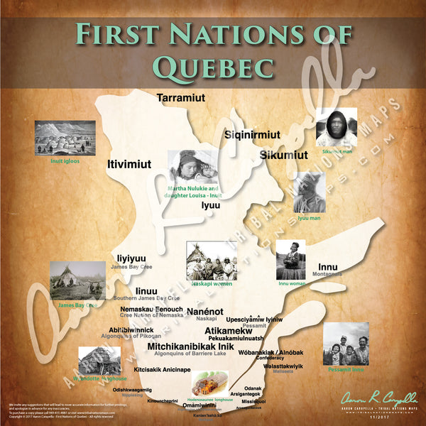 Tribal Nations of Quebec Map