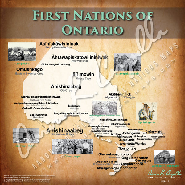 Tribal Nations of Ontario Map