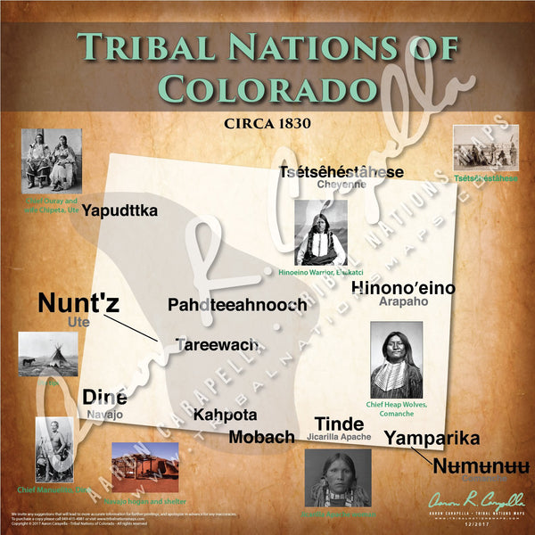 Tribal Nations of Colorado Map Puzzle