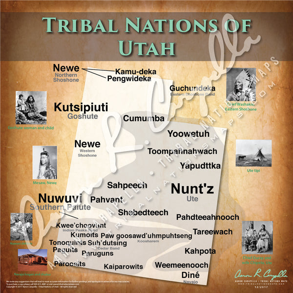Tribal Nations of Utah Map