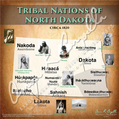 Tribal Nations of North Dakota Map