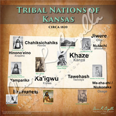 Tribal Nations of Kansas Map Puzzle