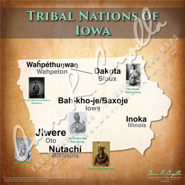 Tribal Nations of Iowa Map Puzzle