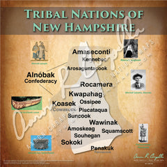 Tribal Nations of New Hampshire Map Puzzle