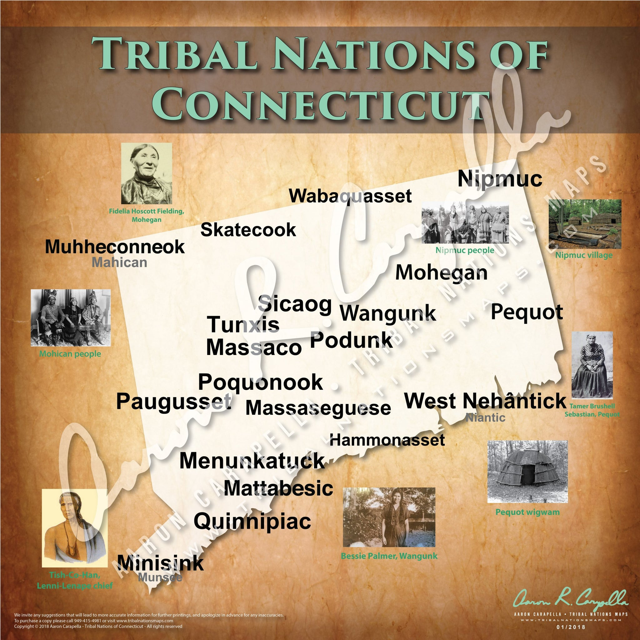 Tribal Nations of Connecticut Map Puzzle