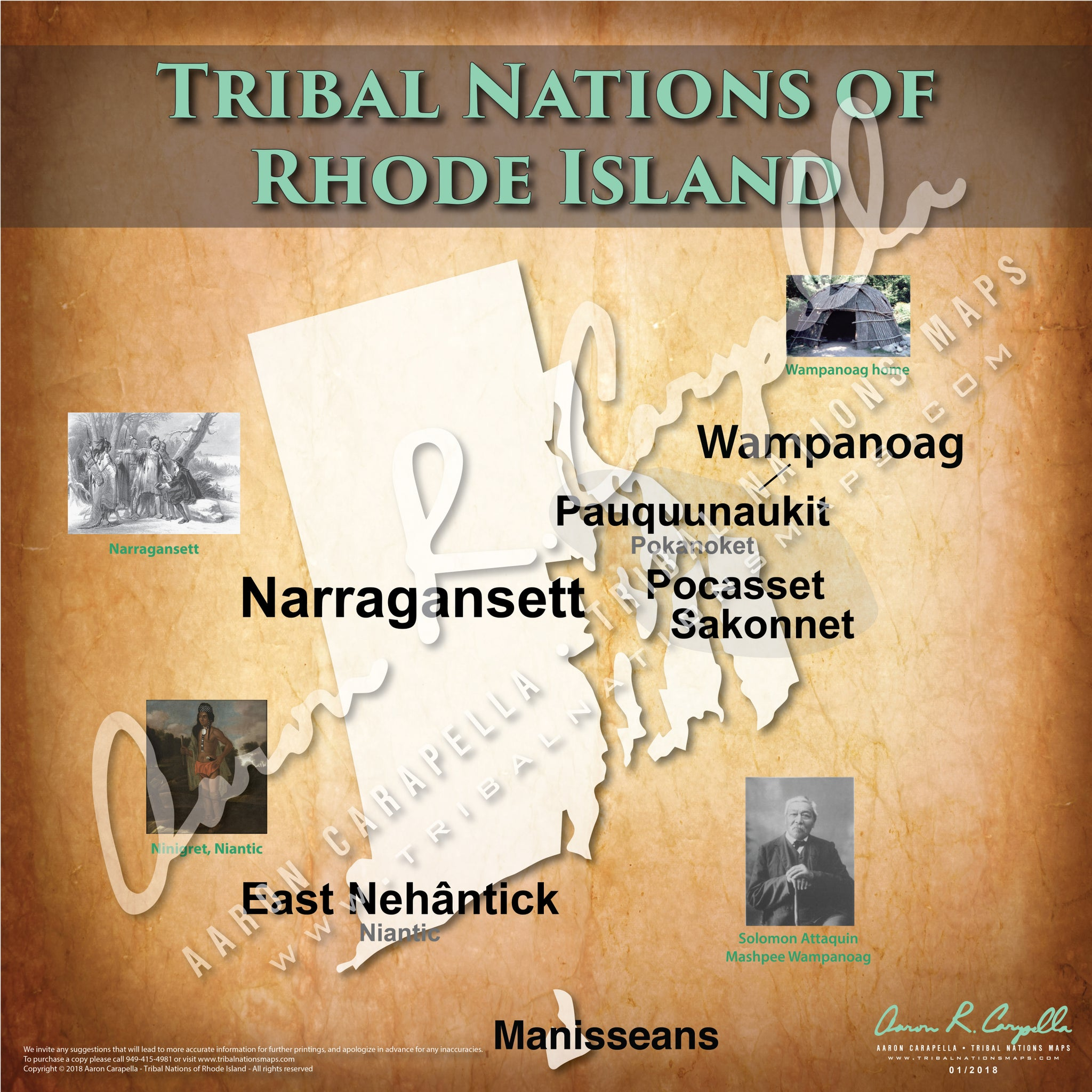 Tribal Nations of Rhode Island Map