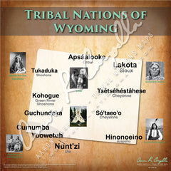 Tribal Nations of Wyoming Map Puzzle