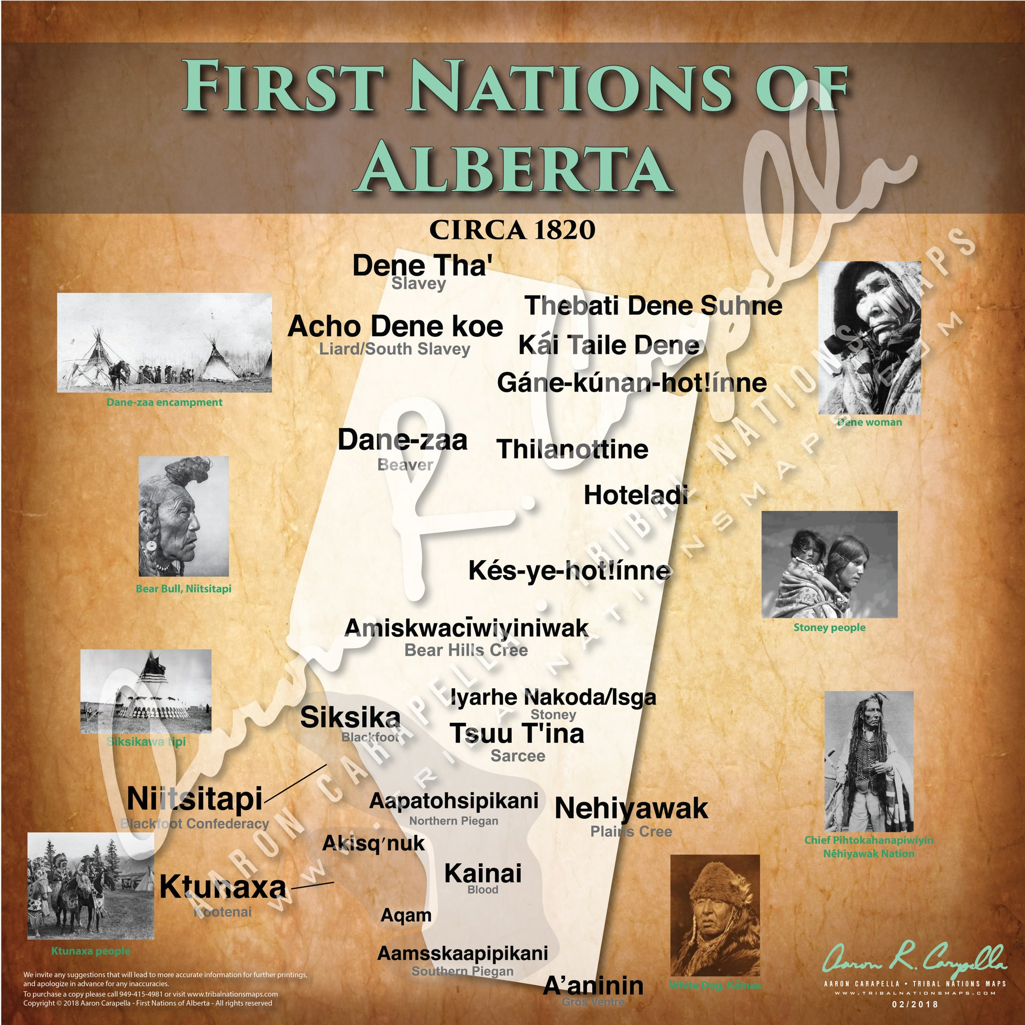 Tribal Nations of Alberta Map