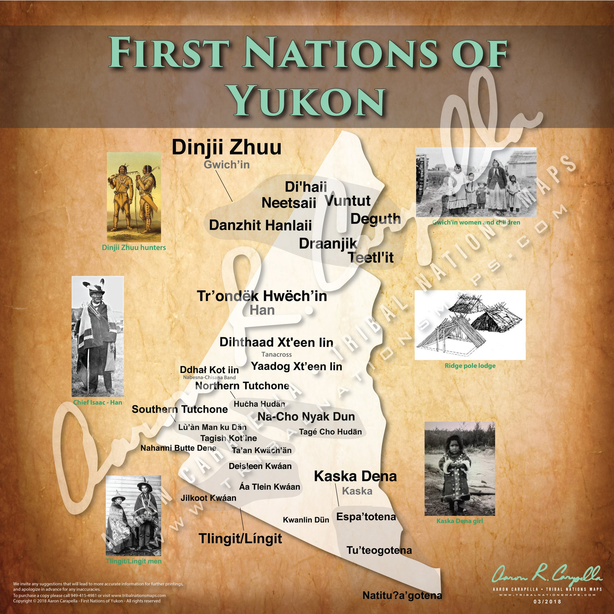 Tribal Nations of Yukon Map