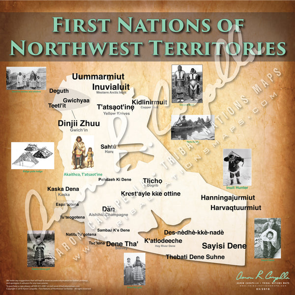 Tribal Nations of Northwest Territories Map