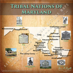 Tribal Nations of Maryland Map