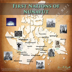 Tribal Nations of Nunavut Map