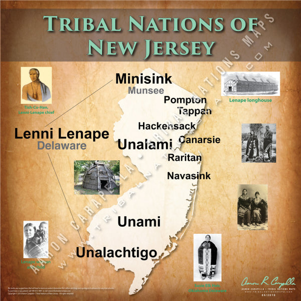Tribal Nations of New Jersey Map