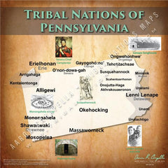 Tribal Nations of Pennsylvania Map Puzzle