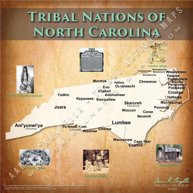 Tribal Nations of North Carolina Map Puzzle