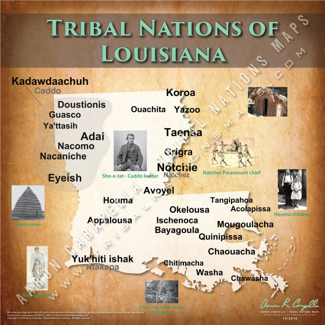 Tribal Nations of Louisiana Map