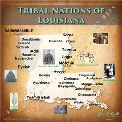 Tribal Nations of Louisiana Map Puzzle