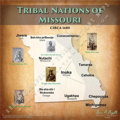 Tribal Nations of Missouri Map Puzzle