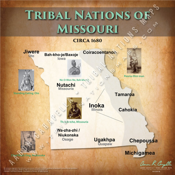 Tribal Nations of Missouri Map