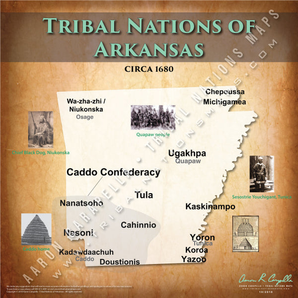 Tribal Nations of Arkansas Map