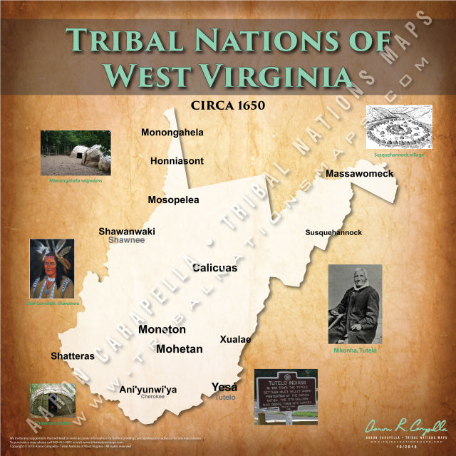 Tribal Nations of West Virginia Map
