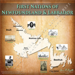 Tribal Nations of Newfoundland & Labrador Map
