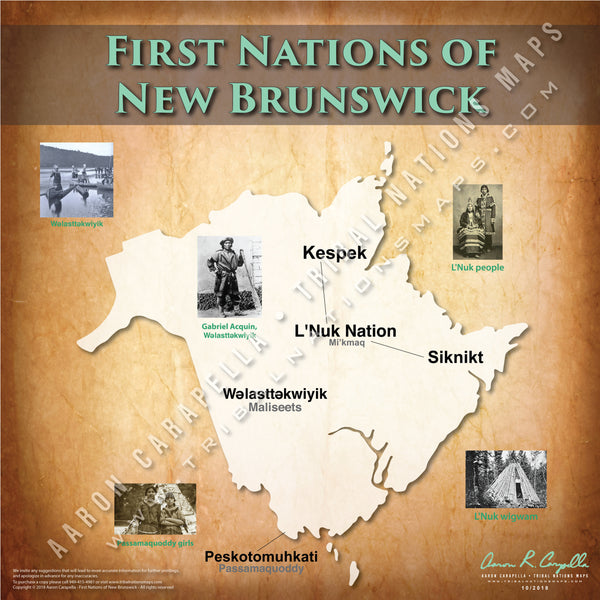 Tribal Nations of New Brunswick Map