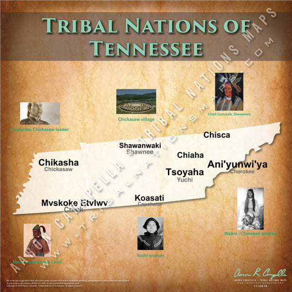 Tribal Nations of Tennessee Map