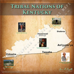 Tribal Nations of Kentucky Map Puzzle