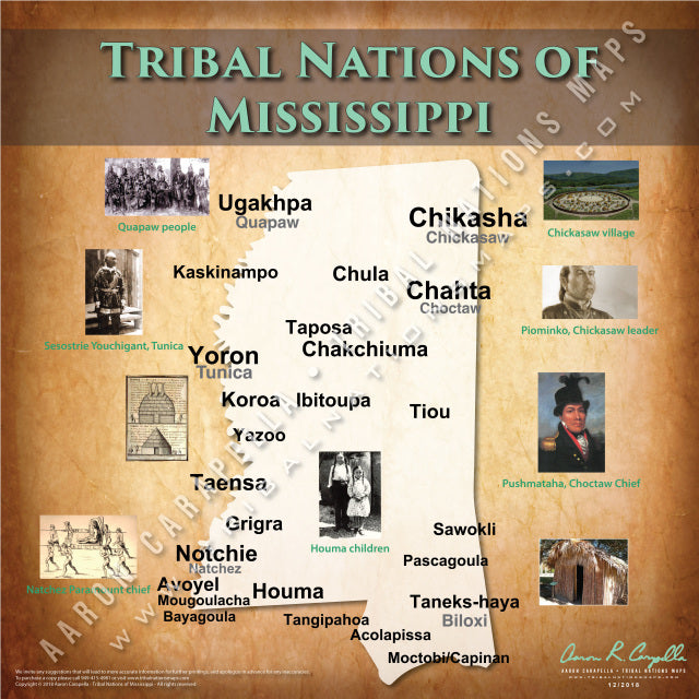 Tribal Nations of Mississippi Map