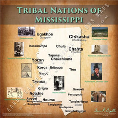 Tribal Nations of Mississippi Map Puzzle