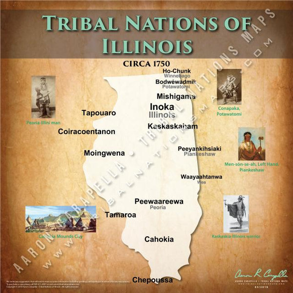 Tribal Nations of Illinois Map Puzzle