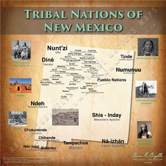 Tribal Nations of New Mexico Map