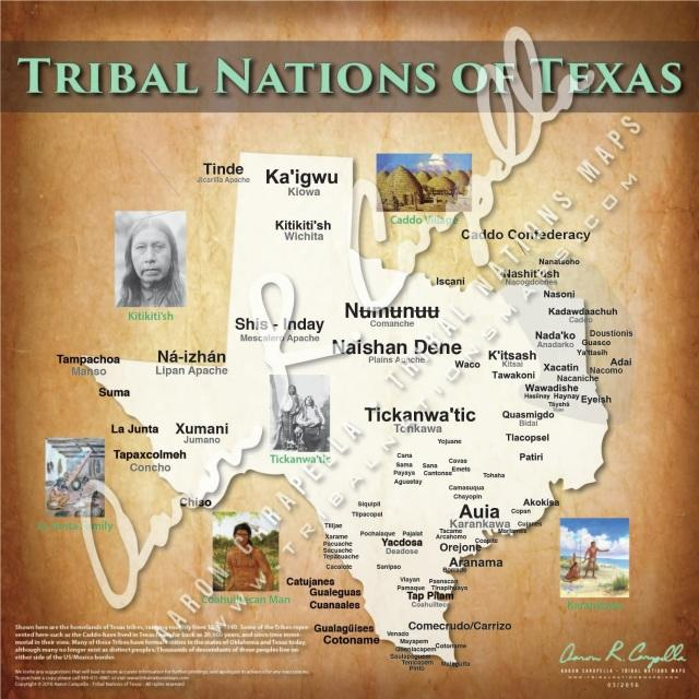 Tribal Nations of Texas Map Puzzle