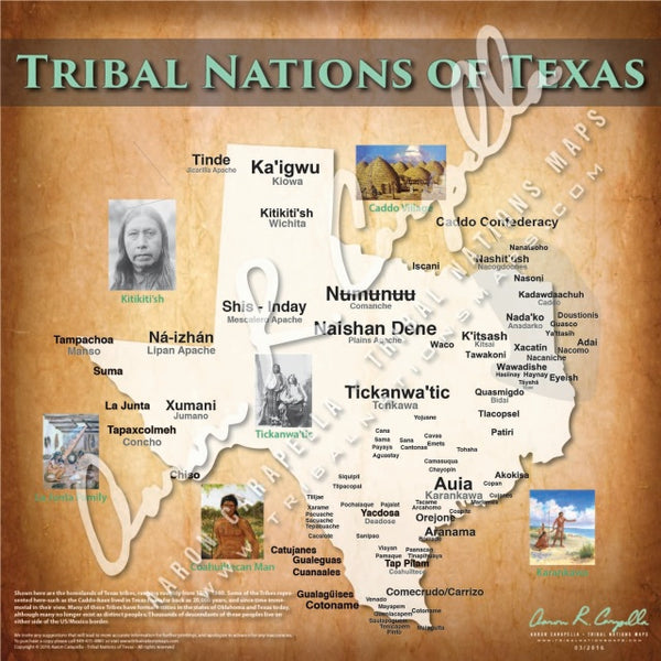 Tribal Nations of Texas Map