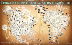 Tribal Nations of the Western Hemisphere Map