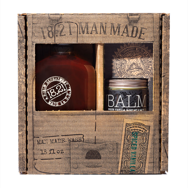 Gift Set Man Made Wash & Balm | Spiced Vanilla
