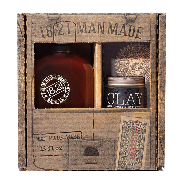 Gift Set Man Made Wash & Clay | Sweet Tobacco