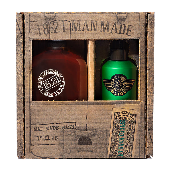 Gift Set Man Made Wash & Shaving Glide | Spiced Vanilla