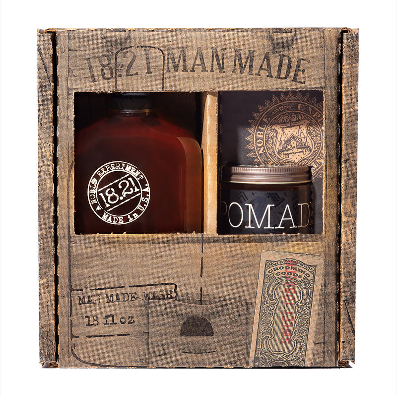 Gift Set Man Made Wash & Pomade | Sweet Tobacco