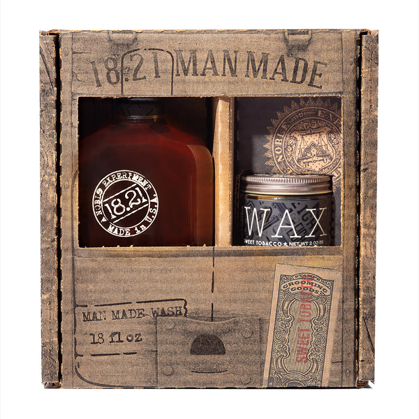 Gift Set Man Made Wash & Wax | Sweet Tobacco