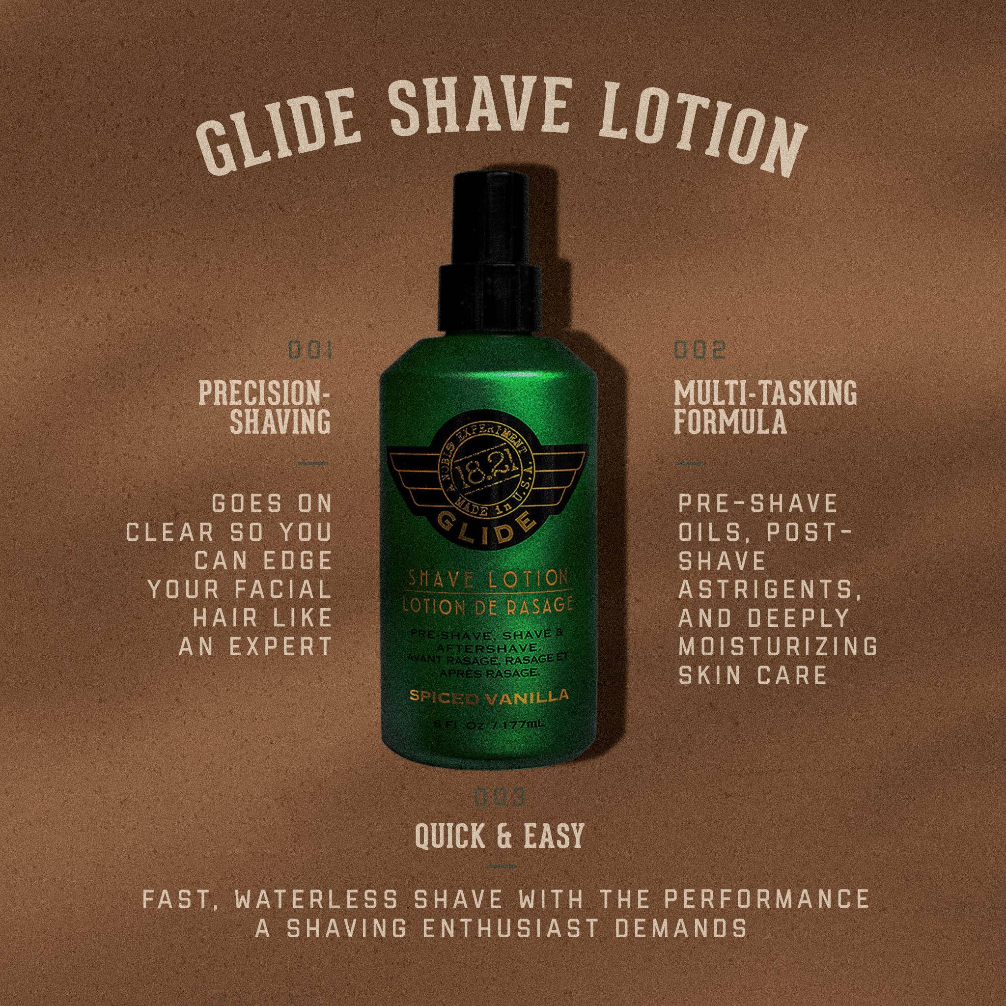 Spiced Vanilla Glide Shave Lotion