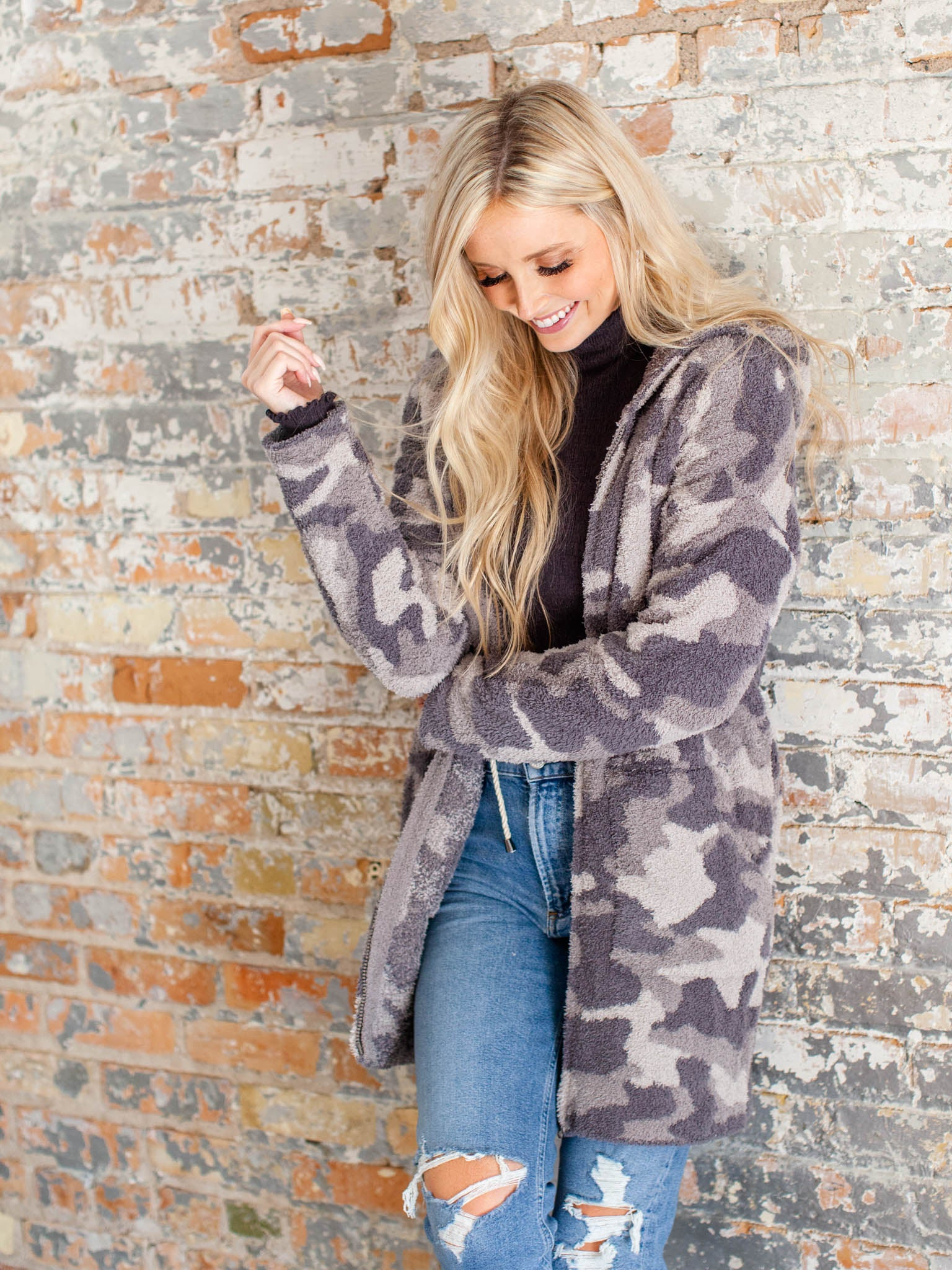 barefoot dreams camo jacket