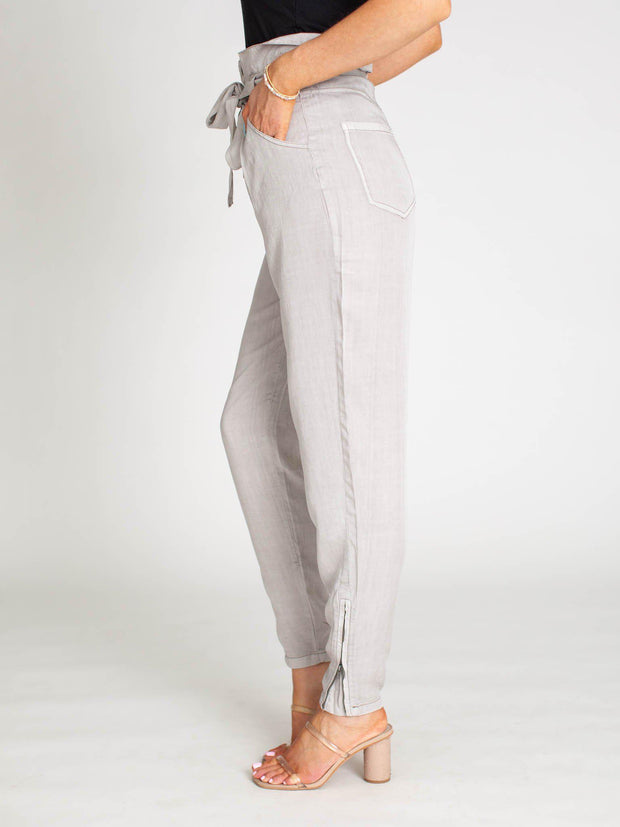 side zipper ankle pant