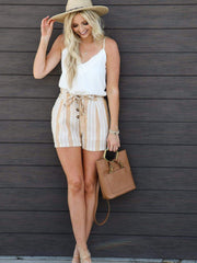 Gentle Fawn Button Front Stripe Shorts