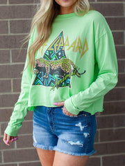 Daydreamer Def Leppard Animal Long Sleeve Crop