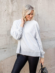 grey basic sweatshirt